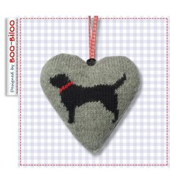 10 Dogs Heart Decoration