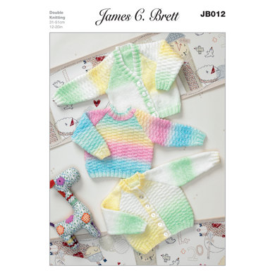 Sweater and Cardigans in James C. Brett Baby Marble DK - JB012