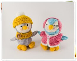 Amigurumi Pip and Poppy Penguins