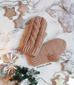 Crochet Cable Mittens