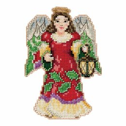 Mill Hill Angel with Lantern Beaded Cross Stitch Kit