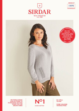 Ladies Sweater in Sirdar No.1 DK - 10095 - Leaflet