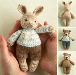 Mini boy bunny and bear