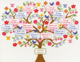 Bothy Threads My Family Tree Cross Stitch Kit