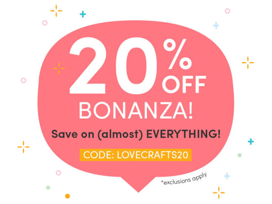 20 percent off BONANZA! Save on (almost) everything. CODE: LOVECRAFTS20