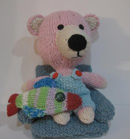 Knitkinz Bear Family & Fish