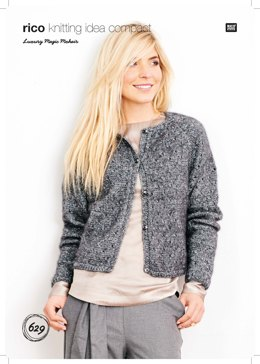 Cardigan in Rico Luxury Magic Mohair - 629 - Downloadable PDF