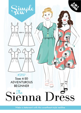Simple Sew Patterns The Sienna Dress SR27 - Sewing Pattern