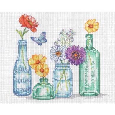 DimensionsWildflower Jars Counted Cross Stitch Kit - 12in x 10in