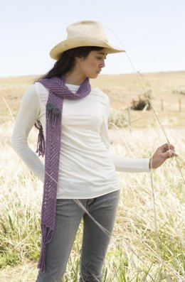 Lily Lace Scarf in Imperial Yarn Tracie Too - P148