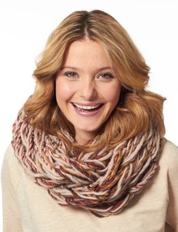 Arm Knit Cowl in Patons Classic Wool Roving and Colorwul