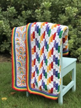 Rainbow Chevron Reversible Blanket
