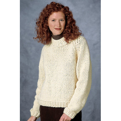 Raglan Sleeve Pullover in Lion Brand Wool-Ease Thick & Quick - 1201