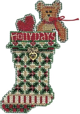 Mill Hill Holly Days Stocking Beaded Cross Stitch Kit - Multi