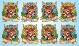 Design Works Reindeer Ornaments Counted Cross Stitch Kit