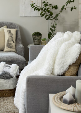 Cozy Plush Throw in Premier Yarns Bunny - Downloadable PDF
