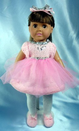 Little Miss Ballerina, Knitting Patterns fit American Girl and other 18-Inch Dolls