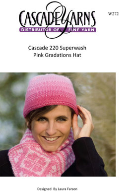 Pink Gradation Hat in Cascade 220 Superwash - W272