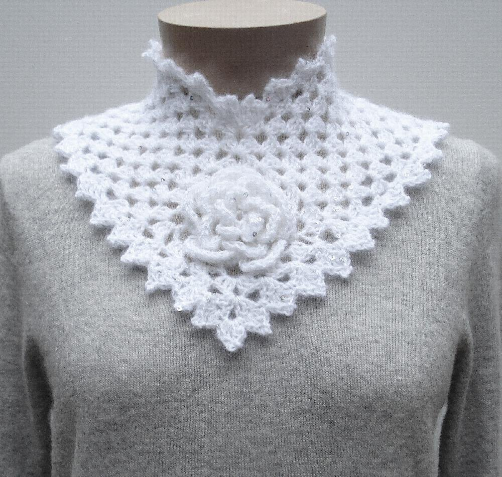 Flower Square\' Collar (crochet) Crochet pattern by Nancy Brown ...