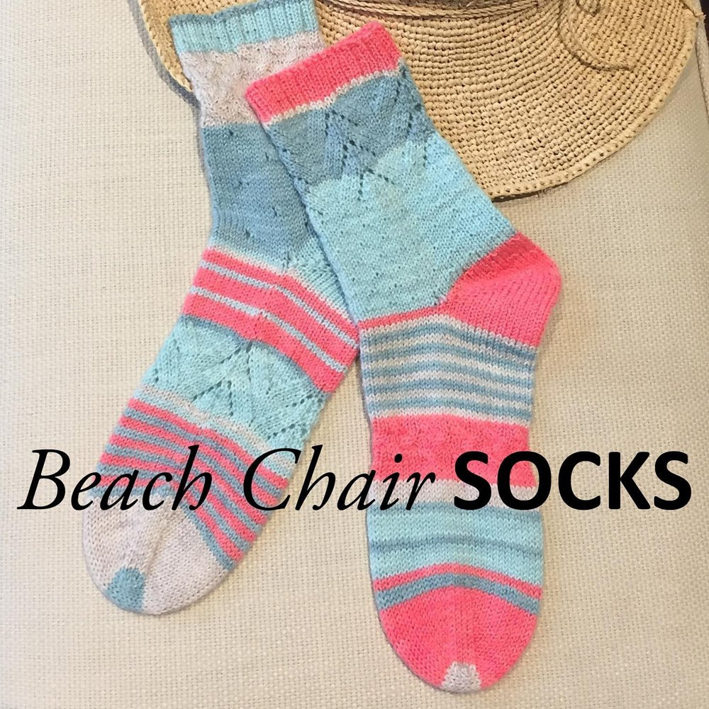 Beach chair socks knitting pattern by beth garbo zoom bankloansurffo Image collections