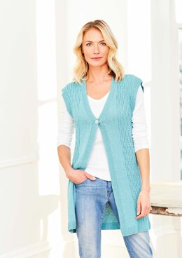 Waistcoat and T-Shirt in Stylecraft Naturals Bamboo & Cotton DK - 9751 - Downloadable PDF
