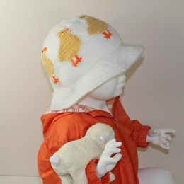 Baby and Child Easter Chick Sun Hat
