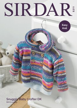 Boy's Duffle Coat in Sirdar Snuggly Baby Crofter DK - 5211 - Downloadable PDF
