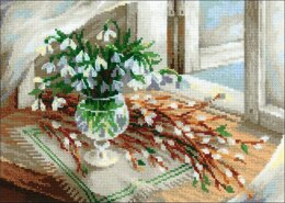 Riolis Willow & Snowdrops Cross Stitch Kit