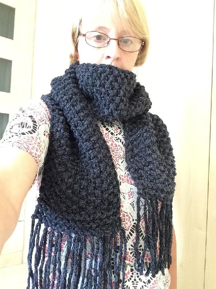Easy Peasy Chunky Scarf Knitting Pattern By Helen Cox