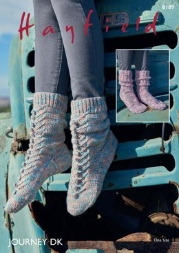 Socks in Hayfield Journey DK  - 8189 - Downloadable PDF
