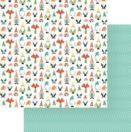"""Photoplay Paper Tulla & Norbert Double-Sided Cardstock 12""""X12"""" 25/Pkg - Gnomies"""