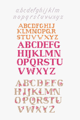 Mixed Font Alphabet  in DMC - PAT0114 -  Downloadable PDF