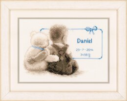 Vervaco My Favourite Teddy Cross Stitch Kit - 26cm x 18cm