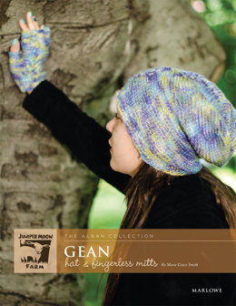 Gean Hat & Fingerless Mitts Set in Juniper Moon Farm Marlowe Dappled - Downloadable PDF