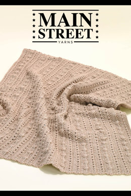Classic Baby Blanket in Main Street Yarns Shiny + Soft - Downloadable PDF
