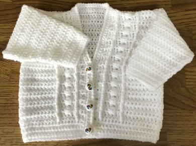 Simple Baby Cardigan Crochet Pattern By Uk Craft Store