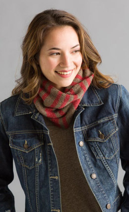 Striped Cowl in Classic Elite Yarns Mountaintop Vail and Villa - Downloadable PDF