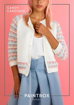 Candy Cardigan - Free Knitting Pattern in Paintbox Yarns Baby DK