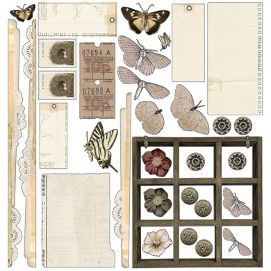 """49 And Market Collection Pack 12""""X12"""" - Vintage Artistry Natural"""
