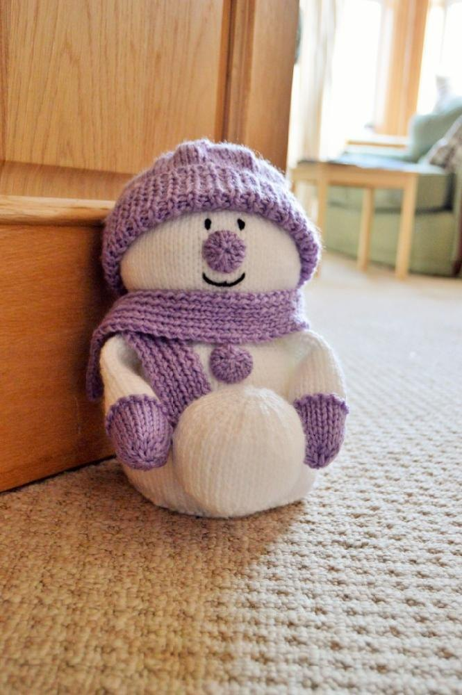 Snowman Doorstop Knitting Pattern By Knitting By Post