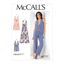 McCall's Misses' Dresses, Romper and Jumpsuit M7777 - Sewing Pattern