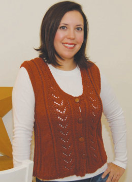 Audrey Vest in Knit One Crochet Too 2nd Time Cotton - 1576 - Downloadable PDF