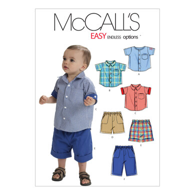 McCall's Infants' Shirts Shorts And Pants M6016 - Paper Pattern Size All Sizes In One Envelope