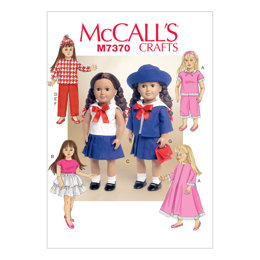 McCall's Retro Outfits for 18 Doll M7370 - Sewing Pattern