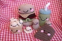 Snack Food Amigurumi Crochet Pattern Set