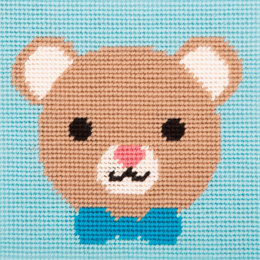 Anchor 1st Kit - Loveable Bear Tapestry Kit - 15cm x 15cm