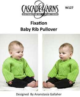 Baby Rib Pullover in Cascade Fixation - W127