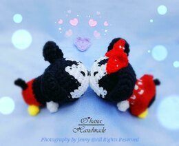 Baby Mickey and Minnie