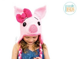 Pinky Piggy Hat - Crochet PDF Pattern
