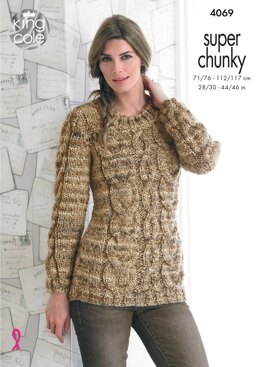 Sweaters in King Cole Super Chunky - 4069